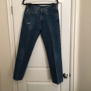 Carhartt Blue Denim 32x30 Relaxed Fit Jeans